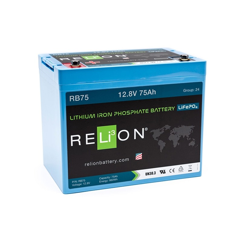 RELION RB75 Lithium Ion deep cycle battery