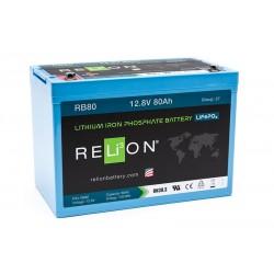 RELION RB80 Lithium Ion gilaus iškrovimo akumuliatorius