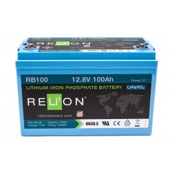 RELION RB100 Lithium Ion deep cycle battery