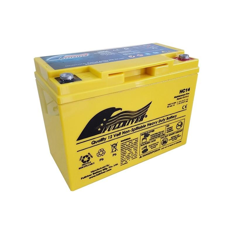 Fullriver HC8 AGM Starter-, Versorgungsbatterie 12V 8Ah 100A