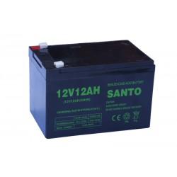 SANTO 6FM12 12V 12Ah AGM VRLA akumuliatorius