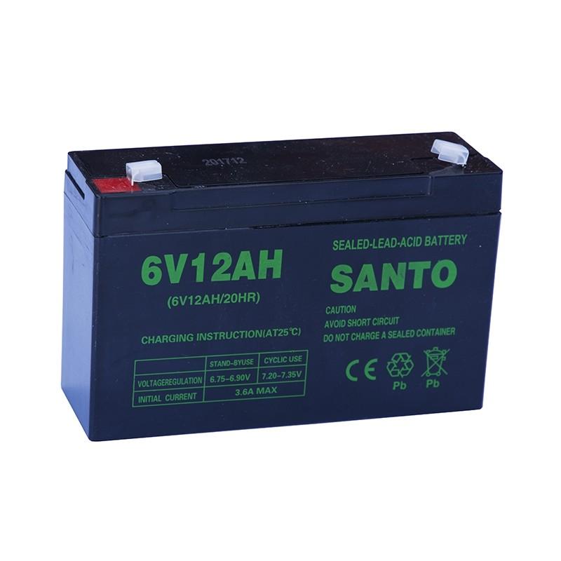 SANTO 3FM12 6V 12Ah AGM VRLA akumuliatorius
