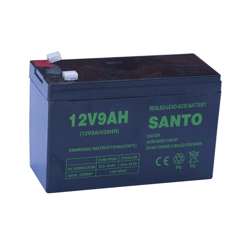 SANTO 6FM9 12V 9Ah AGM VRLA akumuliatorius
