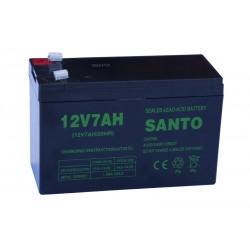 SANTO 6FM7 12V 7Ah AGM VRLA battery