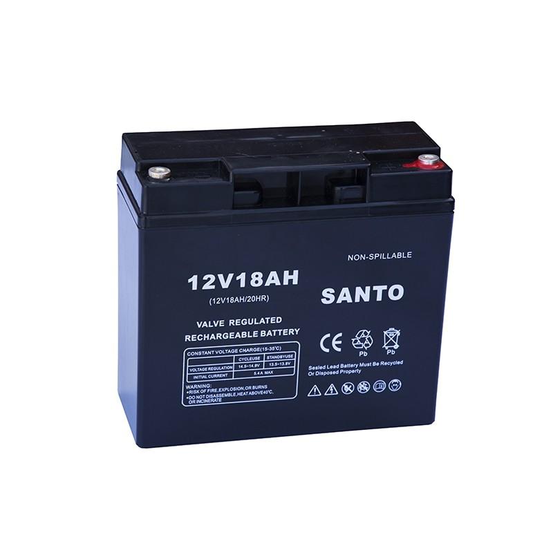 SANTO 6FM18 12V 18Ah AGM VRLA akumuliatorius