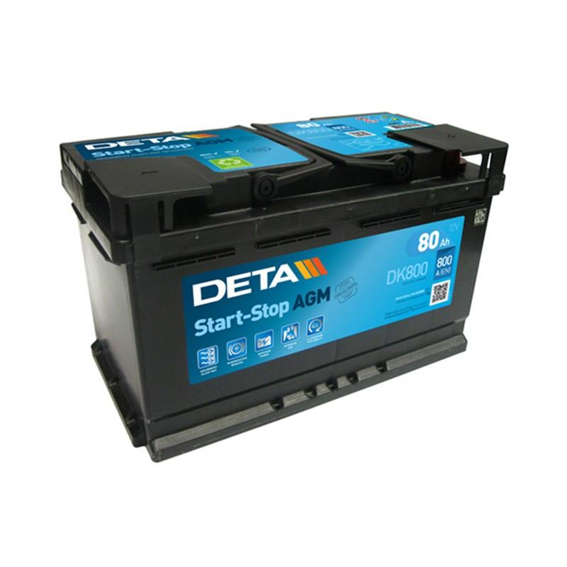 DETA DK800 80Ah MicroHybrid AGM akumuliatorius