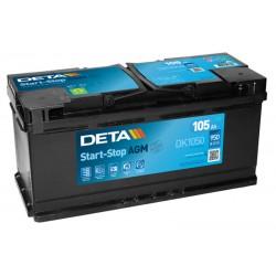DETA DK1050 105Ah MicroHybrid AGM battery