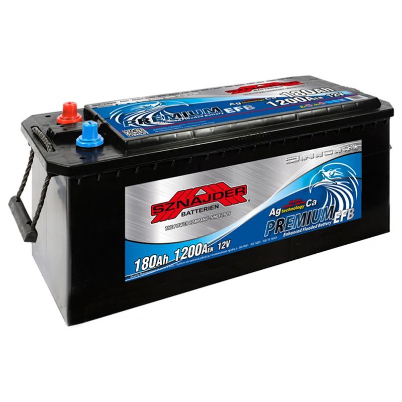 Starter battery SZNAJDER EFB 180Ah 1200A