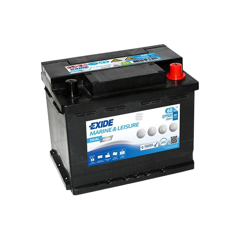 EXIDE EP500 AGM 60Ah 680A dual battery