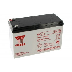 YUASA NP7-12 12V 7Ah AGM VRLA akumuliatorius