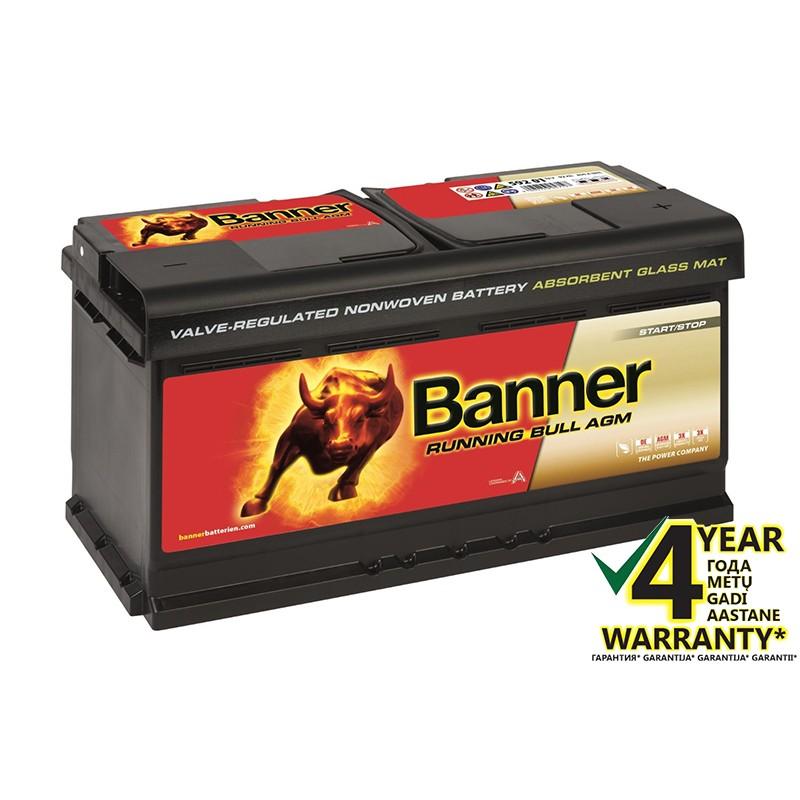 BANNER Running Bull AGM 59201 92Ah akumuliatorius