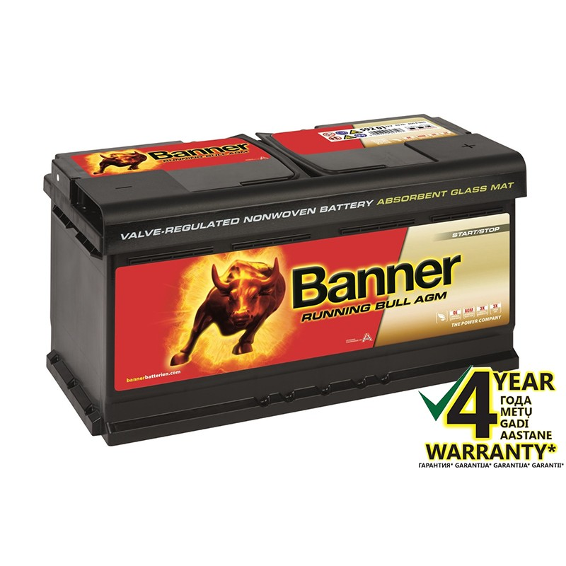 BANNER Running Bull AGM 59201 92Ah battery