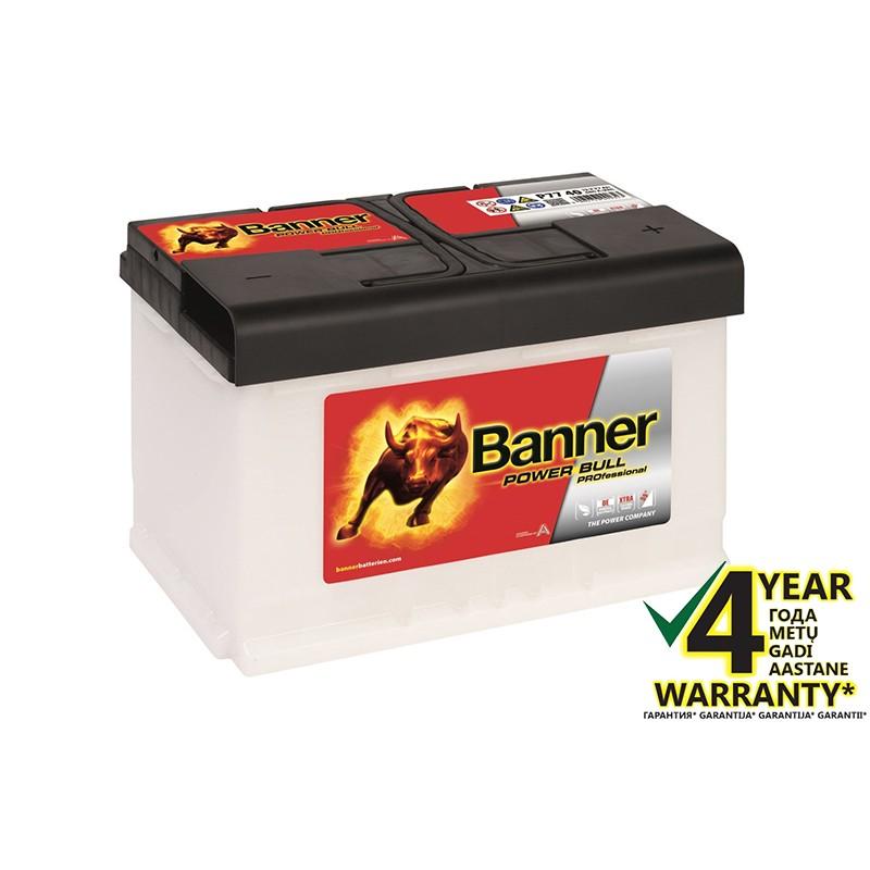 BANNER Power Pro P7740 77Ah akumuliatorius