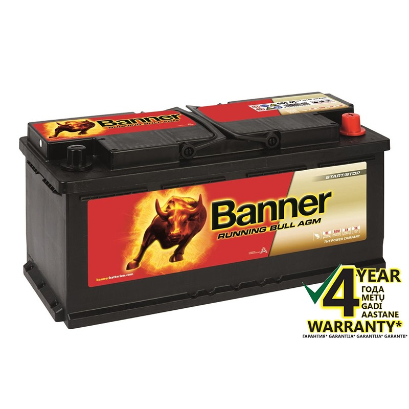 BANNER Running Bull AGM 60501 105Ah akumuliatorius