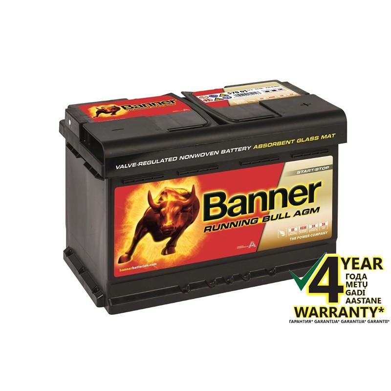 BANNER Running Bull AGM 57001 70Ah akumuliatorius