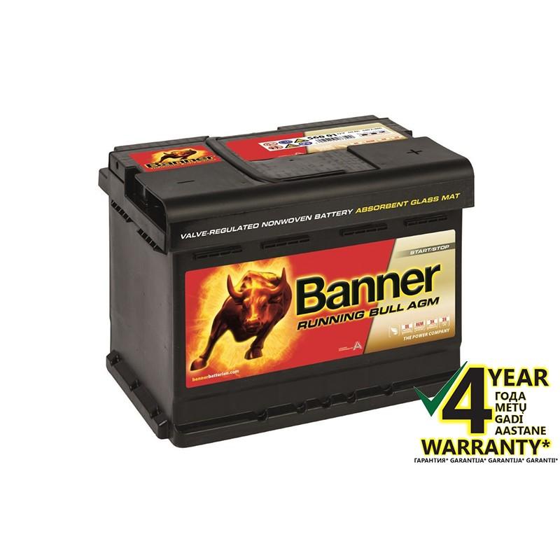 BANNER Running Bull AGM 56001 60Ah akumuliatorius