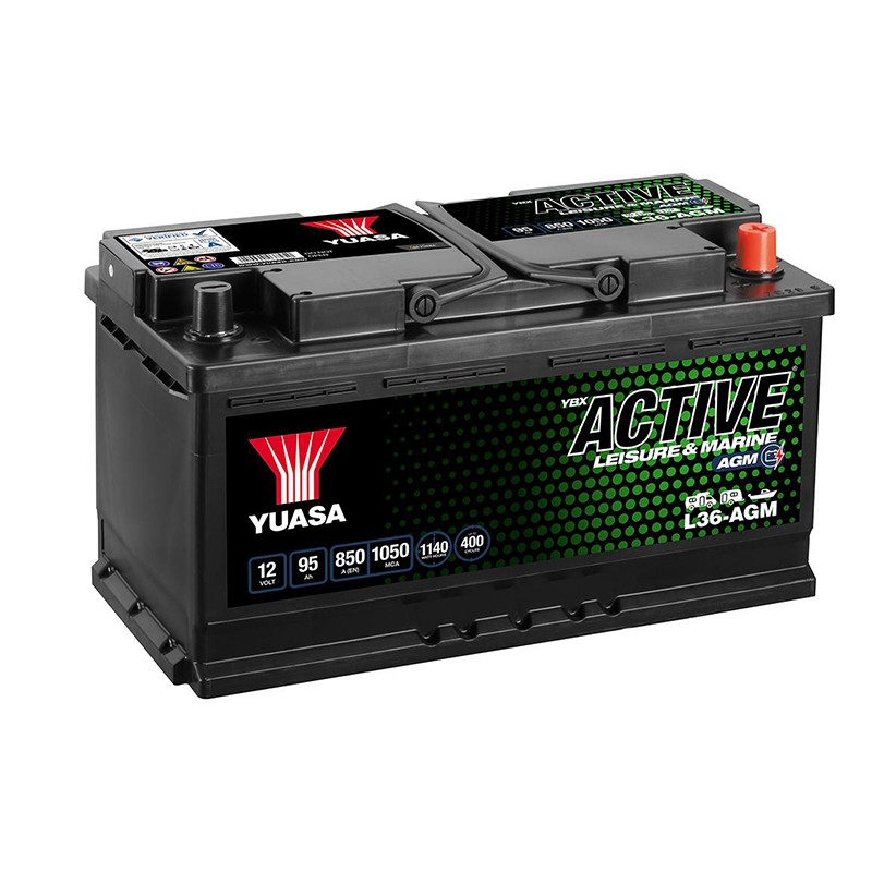 YUASA Leisure L36-AGM 95Ah 850A (EN) akumuliatorius