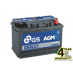 GS YUASA AGM096 70Ah AGM akumuliatorius