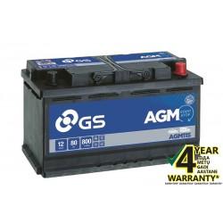 GS YUASA AGM115 80Ah AGM akumuliatorius