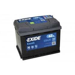 Akum. EXIDE EB620 62Ah 540A/EN