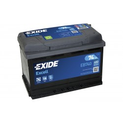 Akum. EXIDE EB740 74Ah 680A/EN