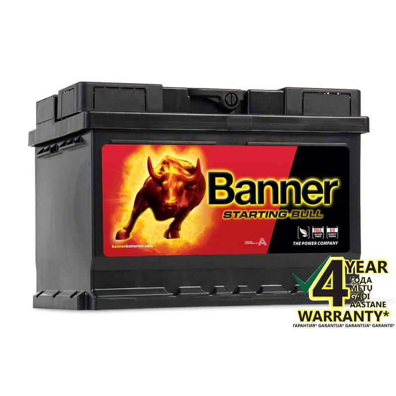 BANNER Starting Bull 55519 55Ah akumuliatorius