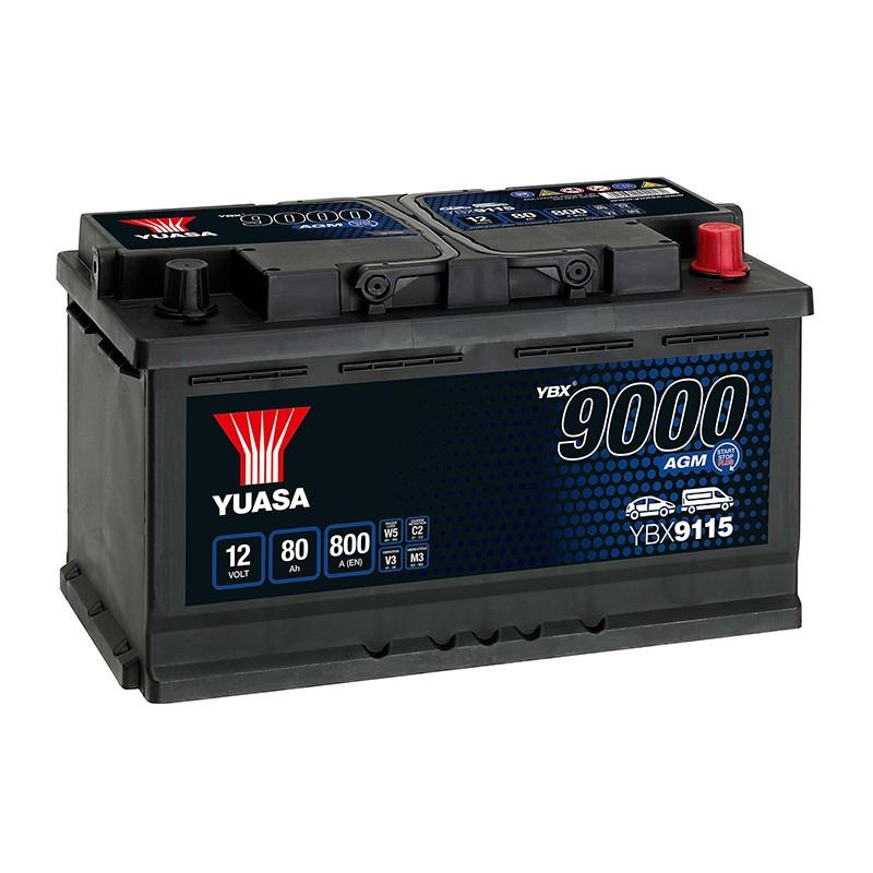 YUASA YBX9115 80Ah AGM akumuliatorius