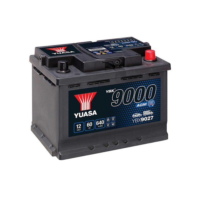 YUASA YBX9027 60Ah AGM akumuliatorius