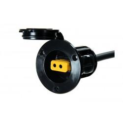 Cannon flush mount power port (black)