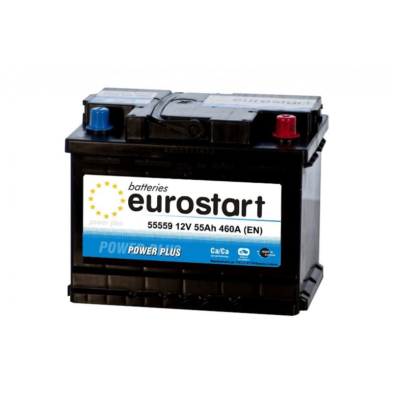 EUROSTART POWER PLUS 55559 55Ah akumuliatorius