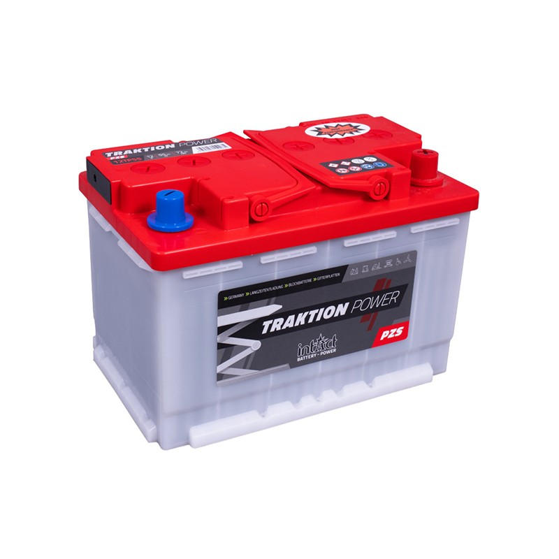 intAct 12TP55 Traction Power PZS 72Ah akumuliatorius