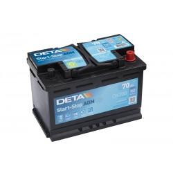 DETA DK700 70Ач MicroHybrid AGM аккумулятор