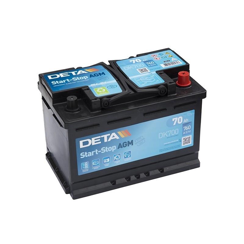 DETA DK700 70Ah MicroHybrid AGM akumuliatorius