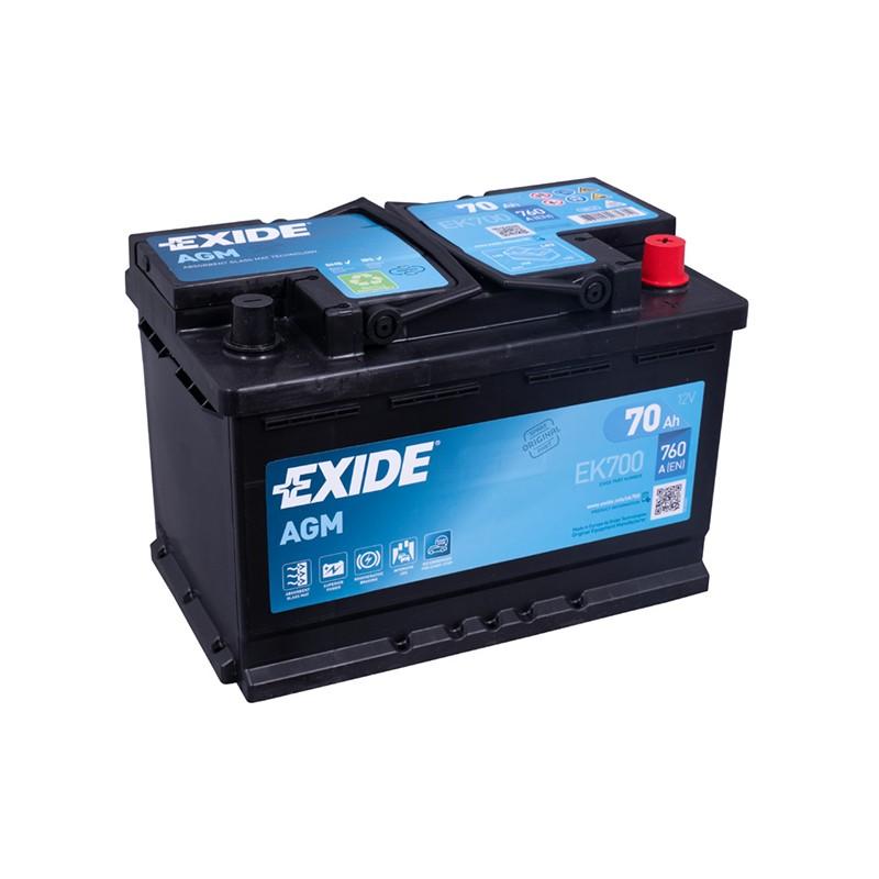 EXIDE EK700 70Ah MicroHybrid AGM battery