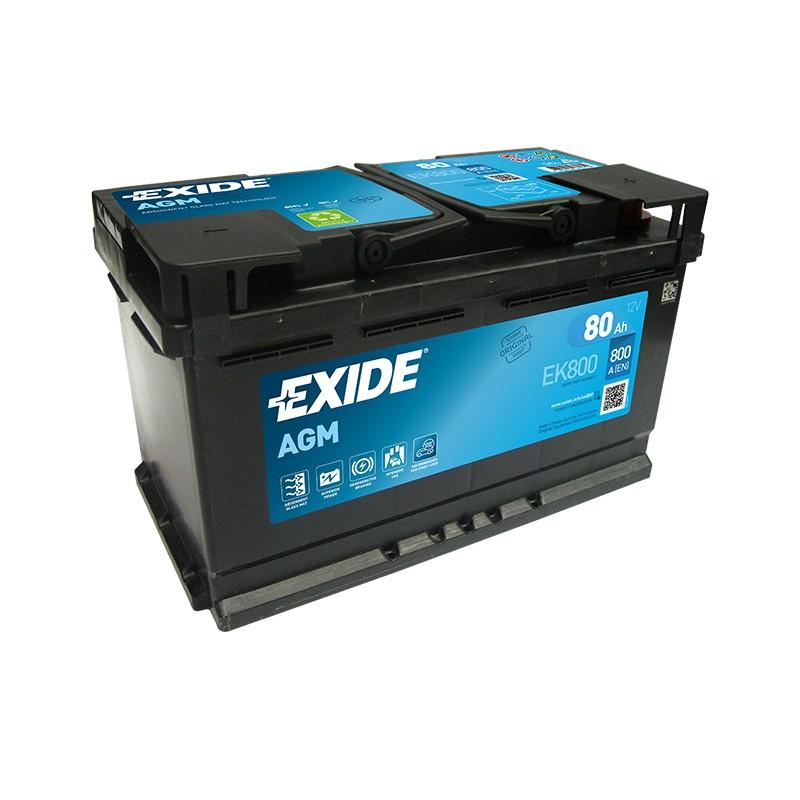 EXIDE EK800 80Ah MicroHybrid AGM akumuliatorius