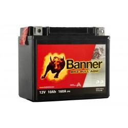 Banner AGM 10Ah 160A Bike Bull akumuliatorius 12V 150x87x131mm