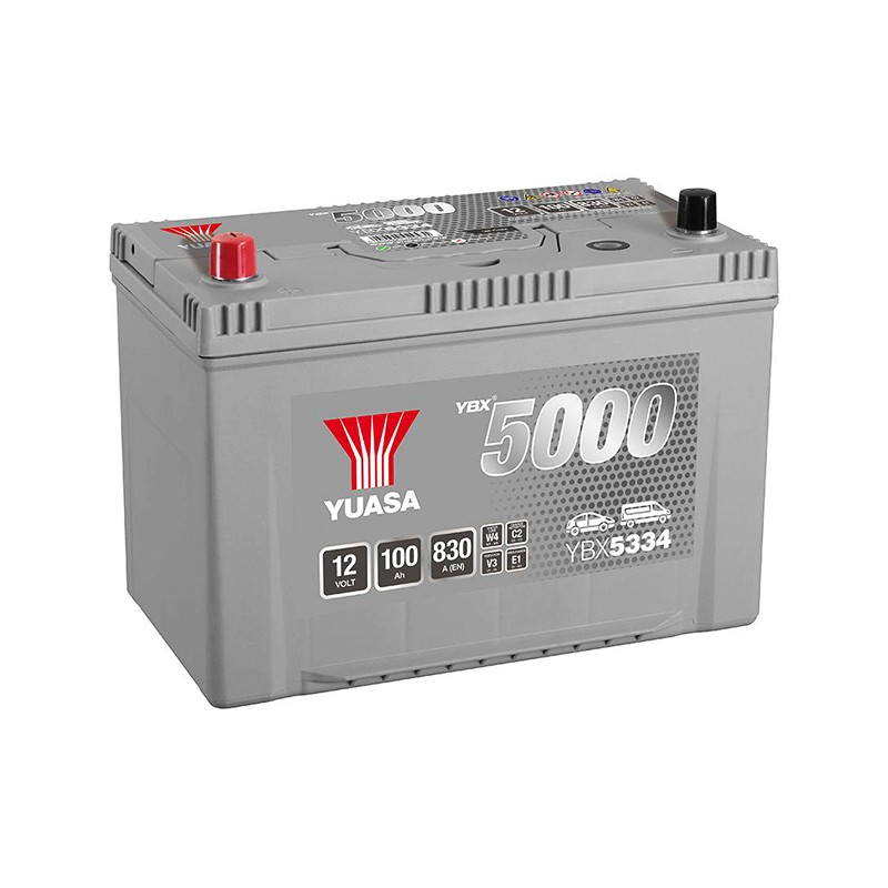 YUASA YBX5334 Silver 95Ah 830A akumuliatorius