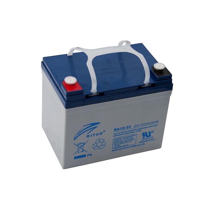 RITAR DG12-33 12V 33Ah GEL VRLA akumuliatorius