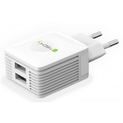 Charger TECHLY IPW-USB-EC152W 5V 2 X  2.1A (white)