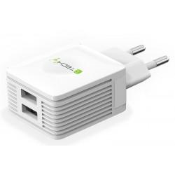 Įkroviklis TECHLY IPW-USB-EC152W 5V 2 X 2.1A (baltas)