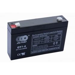 OUTDO 6V 7Ah AGM VRLA battery