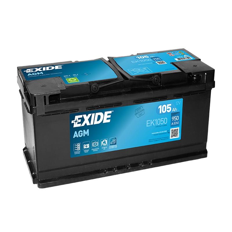 EXIDE EK1050 105Ah MicroHybrid AGM akumuliatorius