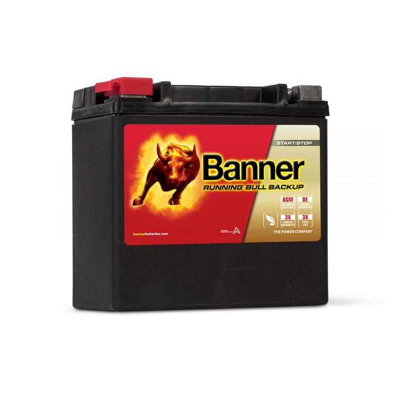 BANNER Running Bull AGM 51400BU 12Ah akumuliatorius