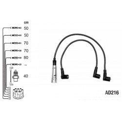 Комплект проводов высокого напряжения PVL-AD216