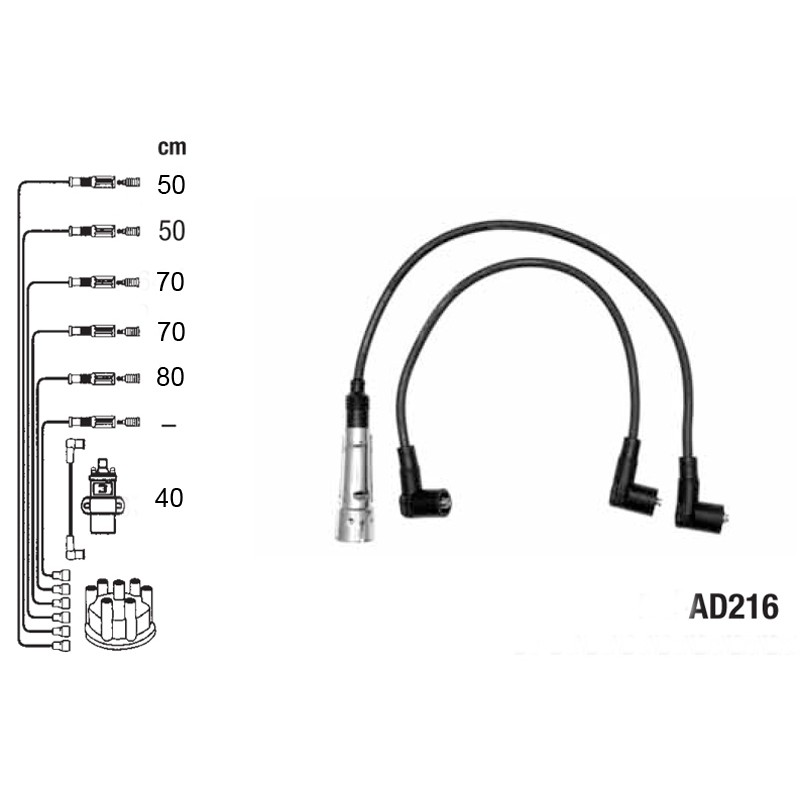 Ignition leads set PVL-AD216