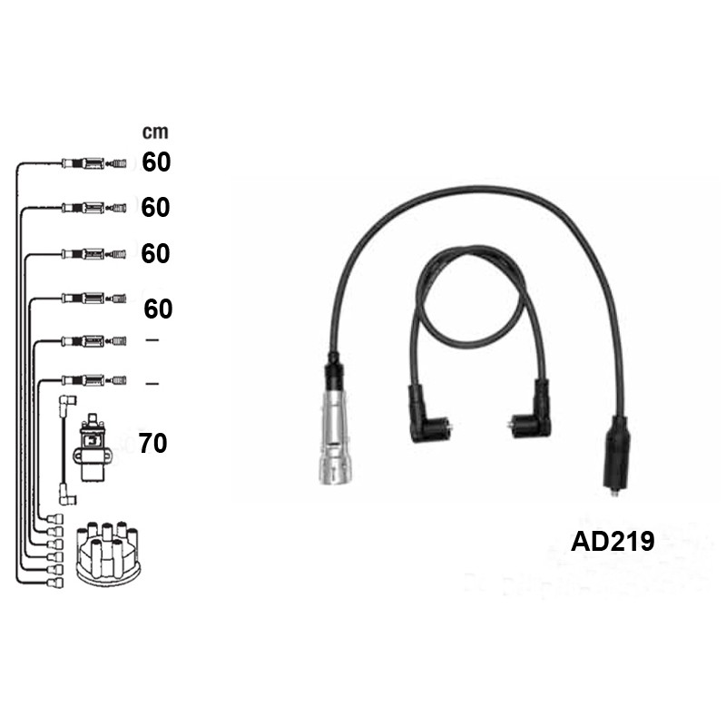 Ignition leads set PVL-AD219
