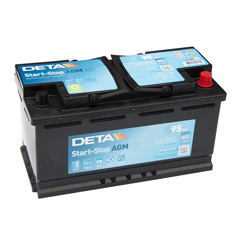 deta dk950 95ah microhybrid agm battery. Black Bedroom Furniture Sets. Home Design Ideas