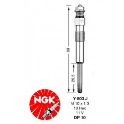 Pakaitinimo žvakė NGK DP10-Y503J (1009)