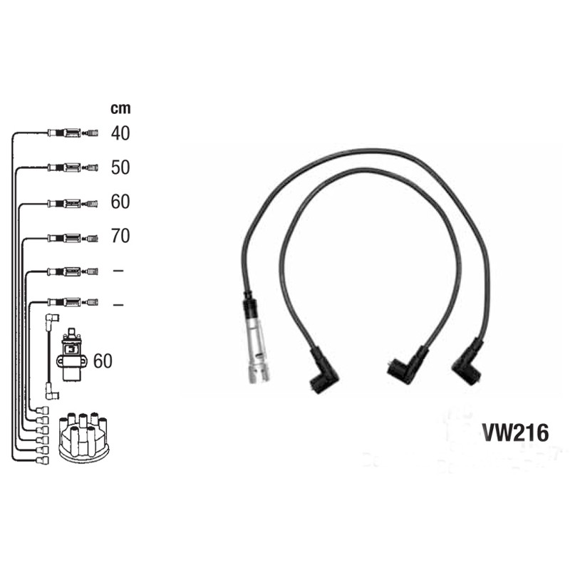 Ignition leads set PVL-VW216