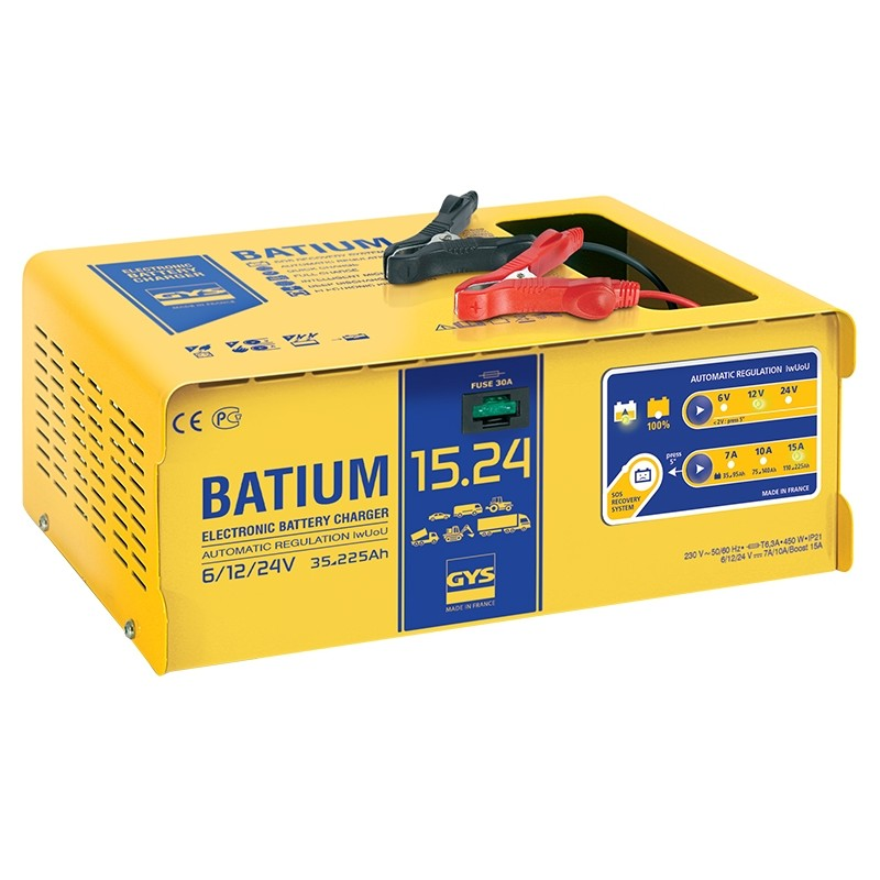 Įkroviklis akumuliatoriams GYS-BATIUM-15/24
